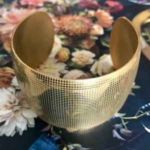 Jewelry - 18K Yellow Gold IP Plated Wide Cuff Bracelet